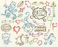 Mega Big Sketch Doodle Vector Stock Photography