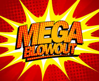 Mega blowout design in pop-art style. Stock Photos