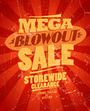 Mega blowout sale, storewide clearance design. Royalty Free Stock Photography