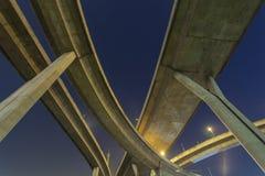 Mega Bridge. Bhumibol Bridge also casually call as Industrial Ring Road Bridge, Samut Prakarn,Thailand Royalty Free Stock Photography