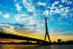 Mega bridge in Bangkok,Thailand Stock Photography