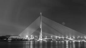 Mega bridge in Bangkok,Thailand (Rama 8 Bridge) Royalty Free Stock Photo