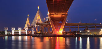 Mega Bridge Panorama Bangkok Royalty Free Stock Image