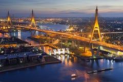 Mega brug in Bangkok Stock Foto's