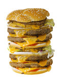 Mega cheeseburger Stock Image