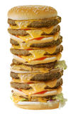 Mega cheeseburger Royalty Free Stock Photos