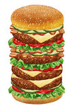 Mega Cheeseburger. Stock Photography