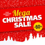 Mega Christmas sale banner Royalty Free Stock Photography