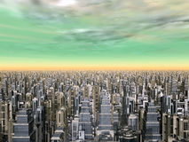 Mega-City Royalty Free Stock Photography