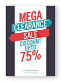Mega Clearance Sale Poster, Banner or Flyer. Stock Images