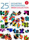 Mega collection of abstract backgrounds Royalty Free Stock Photography