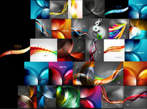 Mega collection of abstract backgrounds Stock Image