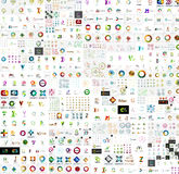 Mega collection of abstract company logo designs royalty free stock photo
