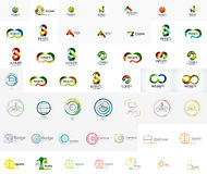Mega collection of abstract company logo designs Stock Photos