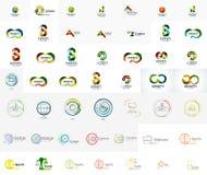 Mega collection of abstract company logo designs Stock Photos