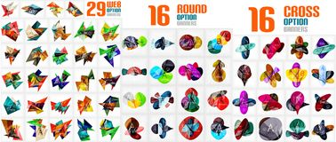 Mega collection of abstract infographic paper templates Royalty Free Stock Photo