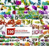 Mega collection of backgrounds Stock Images