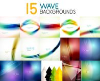 Mega collection of blurred wave abstract backgrounds Stock Photos