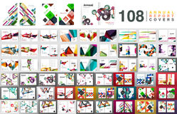 Mega collection of business annual report brochure templates Royalty Free Stock Image