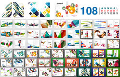 Mega collection of business annual report brochure templates Stock Photography