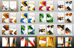 Mega collection of business annual report covers, A4 size Royalty Free Stock Image