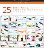 Mega collection of 25 business annual reports brochure cover templates Royalty Free Stock Image