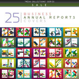 Mega collection of 25 business annual reports brochure cover templates Stock Images