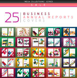 Mega collection of 25 business annual reports brochure cover templates Stock Photography