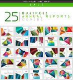 Mega collection of 25 business annual reports brochure cover templates Royalty Free Stock Photo