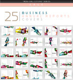 Mega collection of 25 business annual reports brochure cover templates Royalty Free Stock Photos