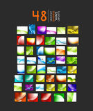 Mega collection of business wave layouts. Mega collection of abstract business or hi-tech wave layouts. 48 design templates Royalty Free Stock Images
