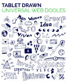 Mega collection of business web concepts, hand drawn doodles Stock Illustration