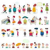 Mega collection of cartoon characters Royalty Free Stock Image