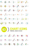 Mega collection of chart business logos Stock Photo