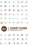 Mega collection of chart business logos Stock Images