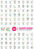 Mega collection of chart business logos Stock Photos