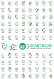 Mega collection of chart business logos Stock Photography