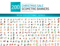 Mega collection of Christmas sale banner templates Royalty Free Stock Images