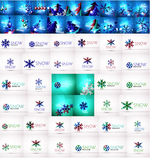 Mega collection of Christmas and winter design Stock Photography