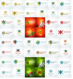 Mega collection of Christmas and winter design Royalty Free Stock Images