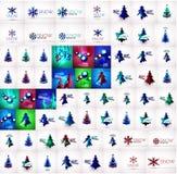 Mega collection of Christmas and winter design Stock Photos