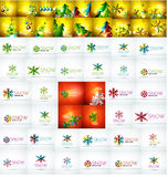 Mega collection of Christmas and winter design Royalty Free Stock Photos