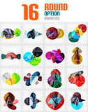 Mega collection of circle infographics Royalty Free Stock Image