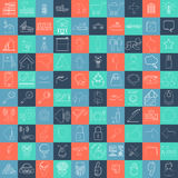 Mega collection of 100 different icons Royalty Free Stock Images