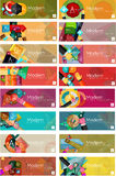 Mega collection of flat design infographic banners Stock Photography