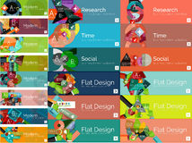 Mega collection of flat web infographic concepts Stock Image