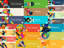 Mega collection of flat web infographic concepts Stock Photo