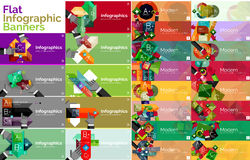 Mega collection of flat web infographic concepts Royalty Free Stock Images