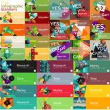 Mega collection of flat web infographic concepts Stock Images