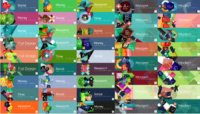Mega collection of flat web infographic concepts Royalty Free Stock Photos